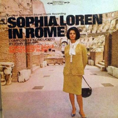 Loren, Sophia - Sophia Loren In Rome - From The Original Television Sound Track Recording, includes vocal -Secrets Of Rome- by Sophia Loren (vinyl STEREO LP record) - NM9/NM9 - LP Records