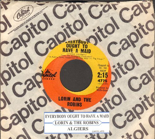 Lorin & The Robins - Everybody Ought To Have A Maid/Algiers (Instrumental)(with juke box label and Capitol company sleeve) - NM9/ - 45 rpm Records