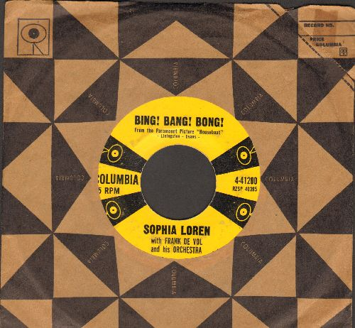 Loren, Sophia - Bing! Bang! Bong!/Love Theme From Houseboat (with vintage Columbia company sleeve) - VG7/ - 45 rpm Records