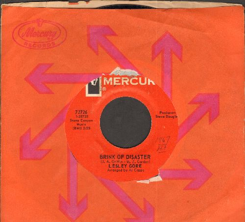 Gore, Lesley - Brink Of Disaster/On A Day Like Today (with Mercury company sleeve) - EX8/ - 45 rpm Records