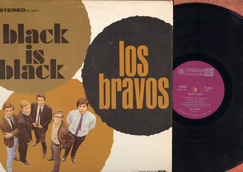 Los Bravos - Black Is Black: Trapped, Make It Easy For Me, She Believes In Me, I Don't Care, You Won't Get Far (Vinyl STEREO LP record, 1966 first pressing) - M10/EX8 - LP Records