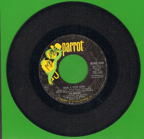 Los Bravos - Bring A Little Lovin'/Make It Last (with Parrot company sleeve)(wol) - EX8/ - 45 rpm Records