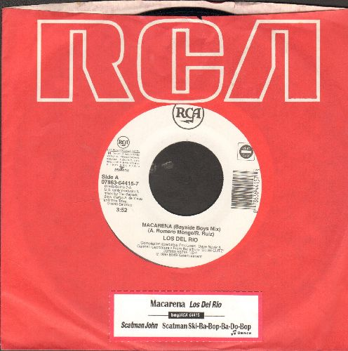 Los Del Rio - Macarena (Bayside Boys Mix)/Scatman (by Scatman Hohn on flip-side) (MINT condition with juke box label and RCA company sleeve) - M10/ - 45 rpm Records