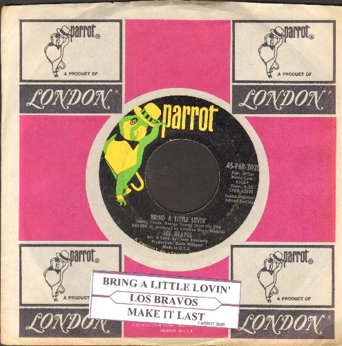 Los Bravos - Bring A Little Lovin'/Make It Last (with juke box label and Parrot company sleeve) - EX8/ - 45 rpm Records