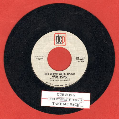 Little Anthony & The Imperials - Our Song/Take Me Back - NM9/ - 45 rpm Records