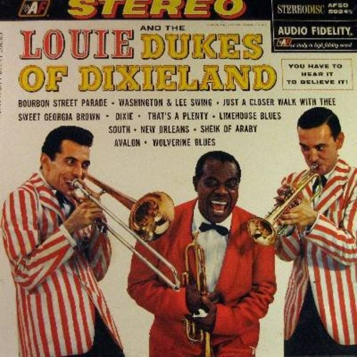 Louie & The Dukes Of Dixieland - Louie & The Dukes Of Dixieland: Bourbon Street, Sweet Georgia Brown, New orleans, Sheik Of Araby, Dixie, Avalon (Vinyl STEREO LP record) - EX8/EX8 - LP Records