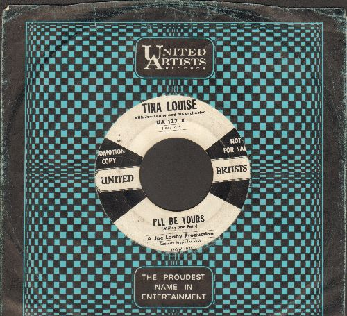 Louise, Tina - I'll Be Yours/In The Evening (RARE DJ advance pressing with vintage United Artists company sleeve) - G5/ - 45 rpm Records