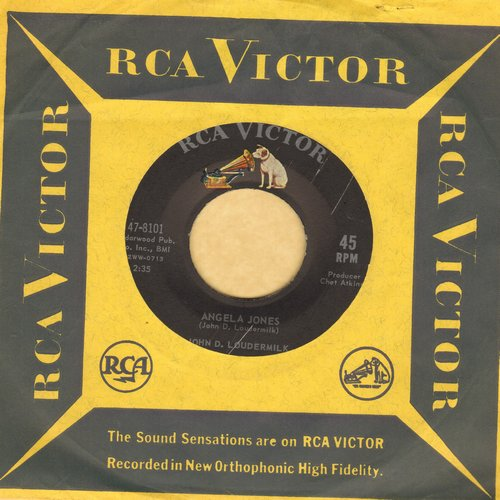Loudermilk, John D. - Angela Jones/Road Hog (with RCA company sleeve) - NM9/ - 45 rpm Records
