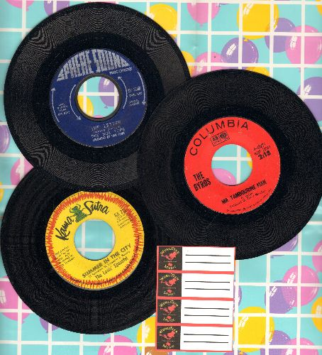Byrds, Box Tops, Lovin' Spoonful - Vietnam Era 45rpm 3-Pack. First issue hits include Mr. Tambourine Man, The Letter and Summer In The City. Shipped in plain white company sleeves with 4 blank juke box labels - EX8/ - 45 rpm Records