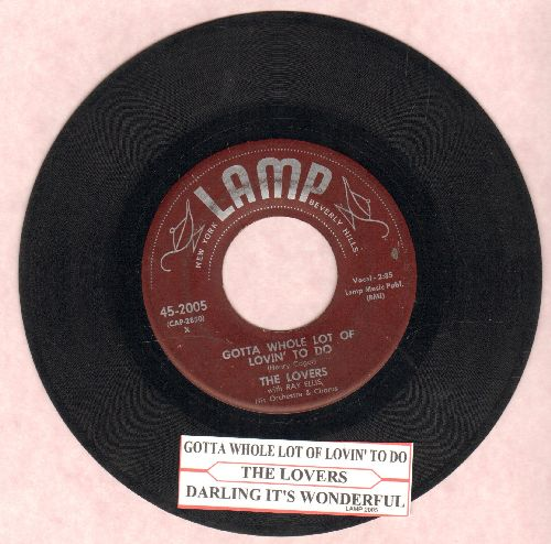 Lovers - Darling It's Wonderful/Gotta Whole Lot Of Lovin' To Do (with juke box label) - VG7/ - 45 rpm Records