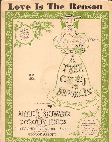 Booth, Shirley - Love Is The Reason - Vintage SHEET MUSIC for the song featured in Broadway's -A Tree Grows In Brooklyn- - VG7/ - Sheet Music