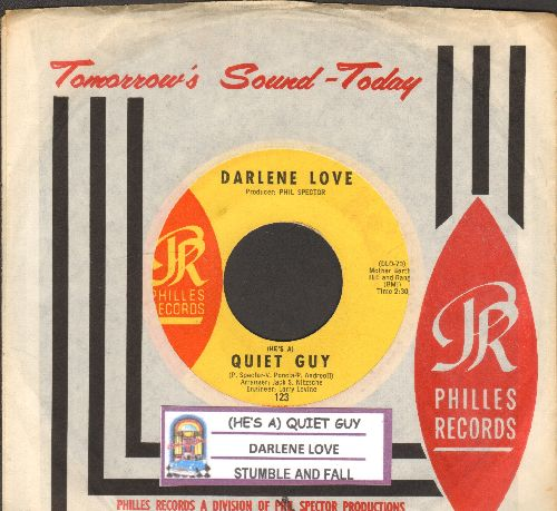 Love, Darlene - Stumble And Fall/(He's A) Quiet Guy (RARE 60's Girl Sound 2-sider with juke box label and Philles company sleeve) - NM9/ - 45 rpm Records