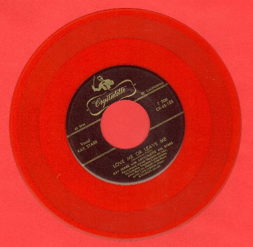 Starr, Kay & Crystalette All Stars - Love Me Or Leave Me/I'm Confessin' (RARE red vinyl pressing) - EX8/ - 45 rpm Records