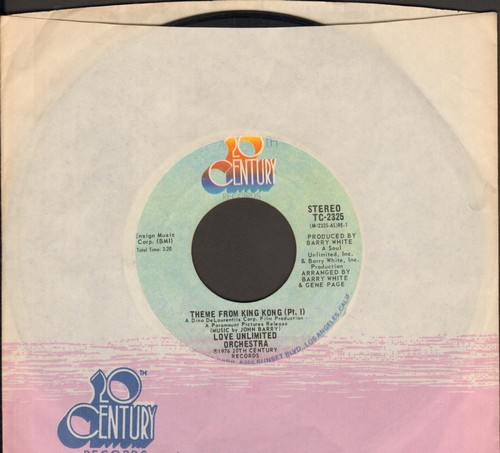 Love Unlimited Orchestra - Theme From King Kong (Parts 1+2)(NICE condition with company sleeve) - NM9/ - 45 rpm Records