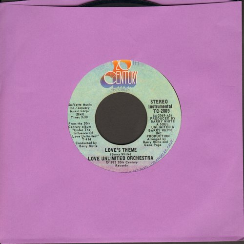 Love Unlimited Orchestra - Love's Theme/Sweet Moments  - VG6/ - 45 rpm Records