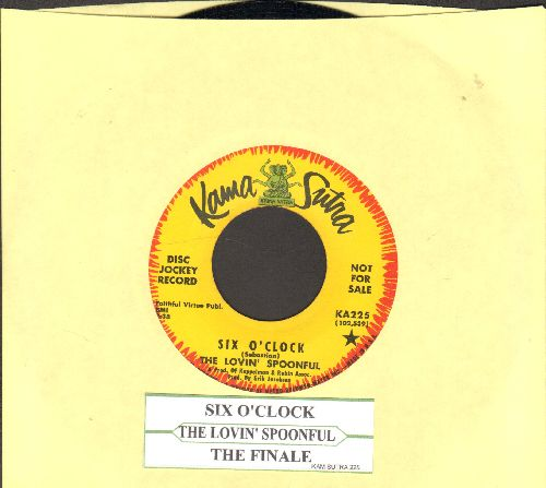 Lovin' Spoonful - Six O'Clock/The Finale (DJ advance pressing with juke box label) - NM9/ - 45 rpm Records