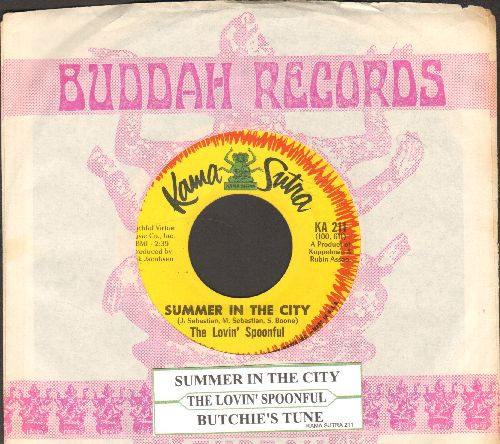 Lovin' Spoonful - Summer In The City/Butchie's Tune (with juke box label and Buddah company sleeve) - EX8/ - 45 rpm Records