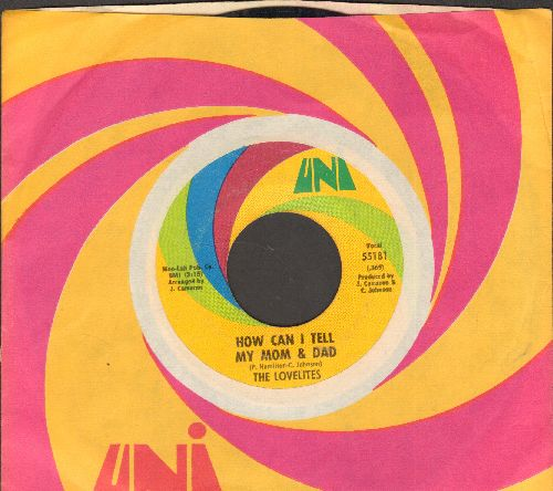 Lovelites - How Can I Tell My Mom And Dad/Hey! Stars Of Tomorrow (with Uni company sleeve) - EX8/ - 45 rpm Records