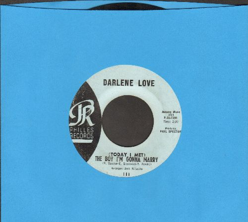 Love, Darlene - (Today I Met) The Boy I'm Gonna Marry/Playing For Keeps (light blue label early pressing, wol) - EX8/ - 45 rpm Records