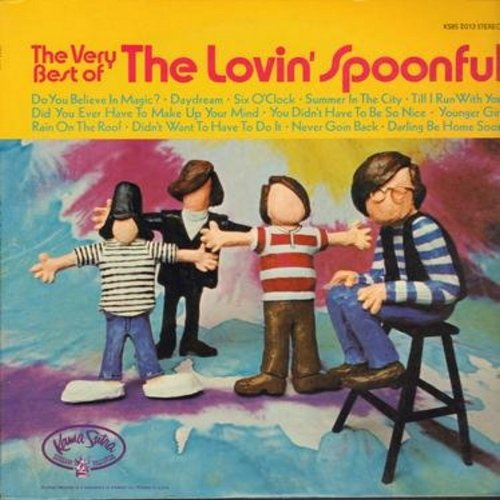 Lovin' Spoonful - The Very Best Of: Do You Believe In Magic?, Daydream, Summer In The City, You Didn't Have To Be So Nice, Did You Ever Have To Make Up Your Mind (Vinyl STEREO LP record) - NM9/EX8 - LP Records