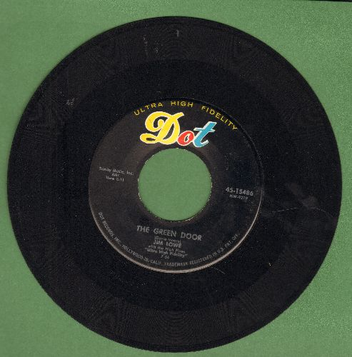 Lowe, Jim - The Green Door/The Little Man In China Town (black label, multi-color logo) - NM9/ - 45 rpm Records