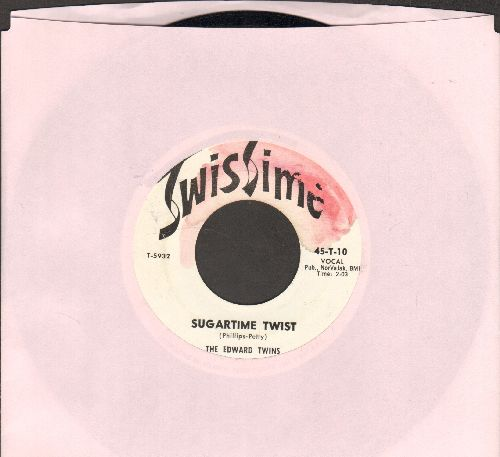 Edward Twins - Sugartime Twist/No More Sugartime  - EX8/ - 45 rpm Records