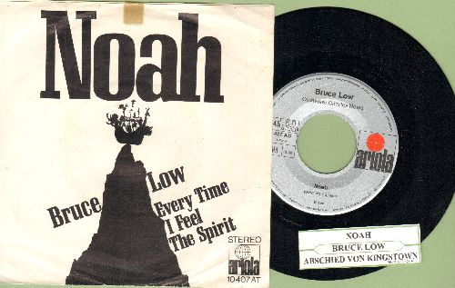 Low, Bruce - Noah/Everytime I Feel The Spirit (with picture sleeve and juke box label, German Pressing sung in German and English) - NM9/VG7 - 45 rpm Records