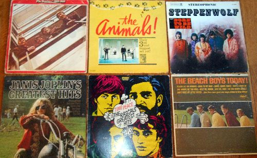 LP Cover 6-Pack - Set #25 includes 6 Vintage LP covers (NO records!) - Exactly as pictured, great for decoration or as replacement covers.  - VG7/ - Supplies
