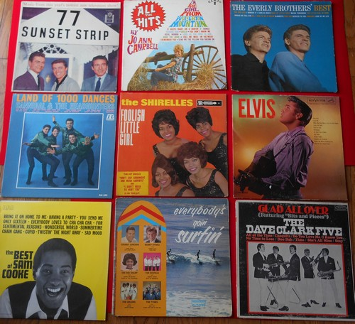 LP Cover 9-Pack - Set #11 includes 9 Vintage LP covers (NO records!) - Exactly as pictured, great for decoration or as replacement covers.  - VG7/ - Supplies