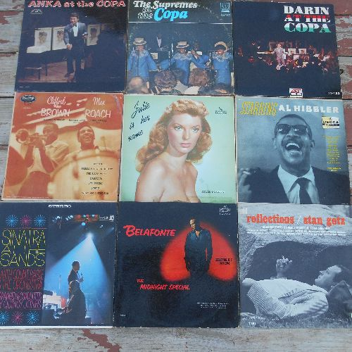 LP Cover 9-Pack - Set #16 includes 9 Vintage LP covers (NO records!) - Exactly as pictured, great for decoration or as replacement covers.  - VG7/ - Supplies