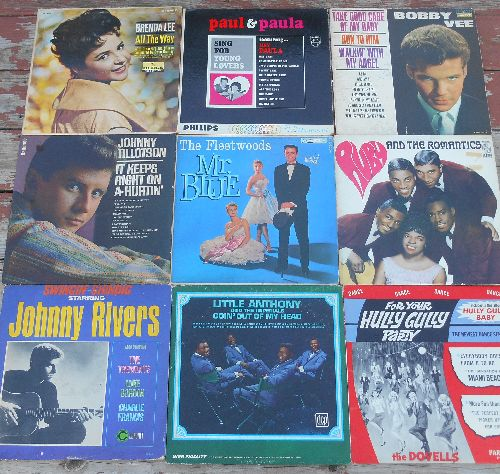 LP Cover 9-Pack - Set #17 includes 9 Vintage LP covers (NO records!) - Exactly as pictured, great for decoration or as replacement covers.  - VG7/ - Supplies