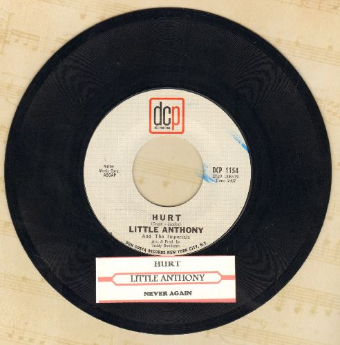 Little Anthony & The Imperials - Hurt (VERY Nice R&B Version of the Toni Fisher Hit!)/Never Again - NM9/ - 45 rpm Records