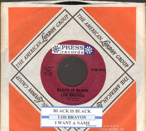 Los Bravos - Black Is Black (I Want My Baby Back)/I Want A Name (with juke box label and company sleeve) - NM9/ - 45 rpm Records