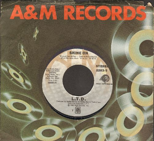 L.T.D. - Never Get Enough Of Your Love/Make Someone Smile, Today! (with A&M company sleeve) - EX8/ - 45 rpm Records