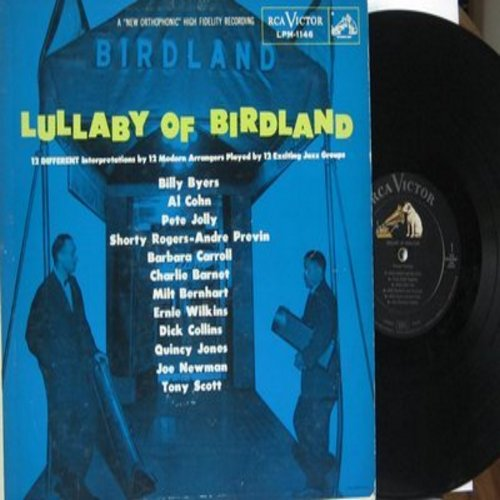 Collins, Dick, Barbara Carroll, Tony Scott, Quincy Jones, Pete Jolly, others - Lullaby Of Birdland: 12 Different Interpretations by 12 Modern Arrangers Played by 12 Exciting Jazz Groups (Vinyl MONO LP record, DJ advance pressing) - NM9/VG7 - LP Records