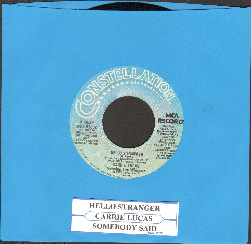 Lucas, Carrie - Hello Stranger/Somebody Said (with juke box label) - NM9/ - 45 rpm Records
