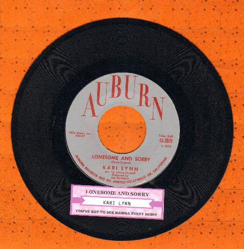 Lynn, Kari - You've Got To See Mamma Every Night/Lonesome And Sorry (with juke box label) - NM9/ - 45 rpm Records