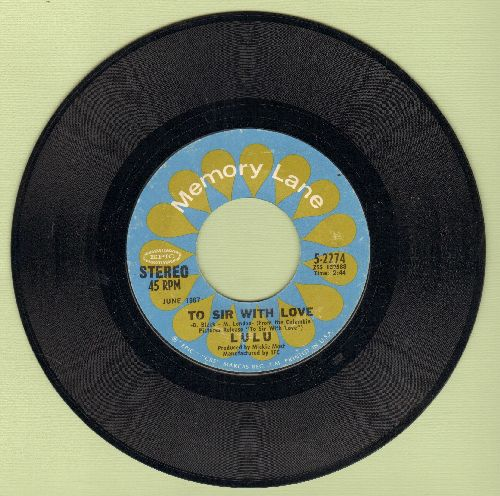Lulu - To Sir With Love/Morning Dew (double-hit re-issue) - NM9/ - 45 rpm Records