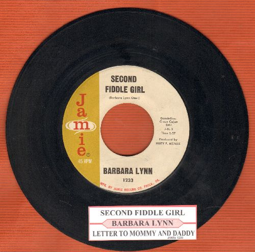 Lynn, Barbara - Second Fiddle Girl/Letter To Mommy And Daddy (with juke box label) - EX8/ - 45 rpm Records