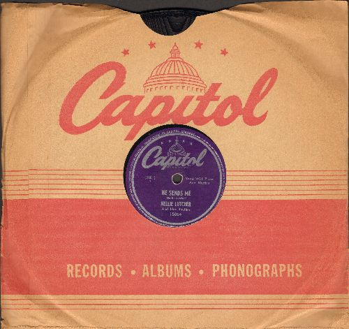 Lutcher, Nellie - Come And Get It, Honey/He Sends Me (10 inch 78 rpm record with Capitol company sleeve) - EX8/ - 78 rpm