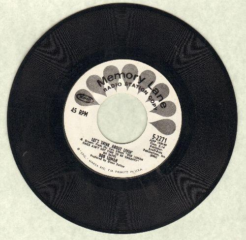 Luman, Bob - Let's Think About Livin'/Memphis (double-hit re-issue) - NM9/ - 45 rpm Records