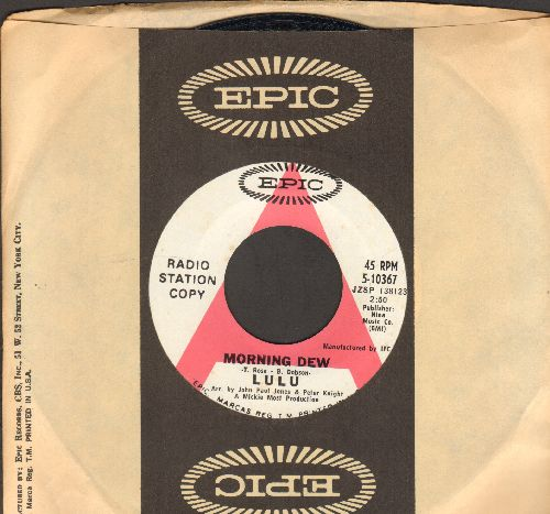 Lulu - Morning Dew/You And I (DJ advance pressing with Epic company sleeve) - M10/ - 45 rpm Records