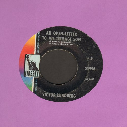 Lundberg, Victor - An Open Letter To My Teenage Son/My Buddy Carl  - EX8/ - 45 rpm Records