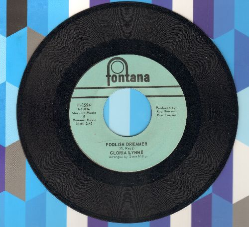 Lynne, Gloria - Foolish Dreamer/I Can't Stand It - NM9/ - 45 rpm Records