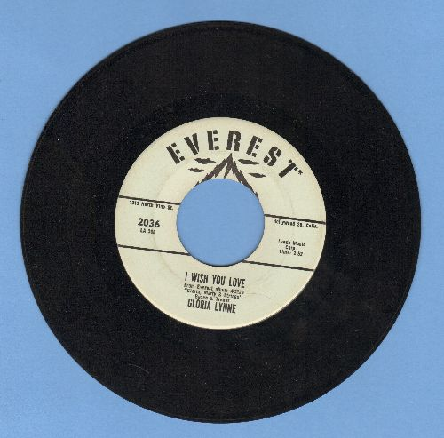 Lynne, Gloria - I Wish You Love/Through A Long And Sleepless Night - EX8/ - 45 rpm Records