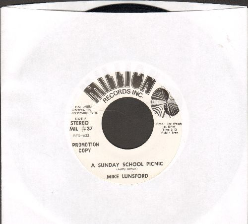 Lunsford, Mike - A Sunday School Picnic (double-A-sided DJ advance pressing) - NM9/ - 45 rpm Records