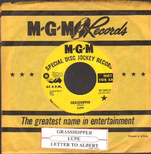 Lupe - Grasshopper/Letter To Albert (DJ advance pressing with juke box label and MGM company sleeve) - NM9/ - 45 rpm Records