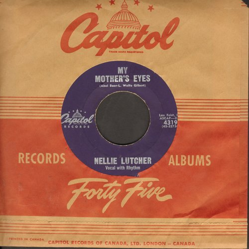 Lutcher, Nellie - My Mother's Eyes/The Heart Of A Clown (purple label with vintage Capitol company sleeve, wol) - VG7/ - 45 rpm Records