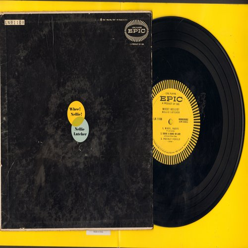 Lutcher, Nellie - Whee! Nellie!: St. Louis Blues, Blues For Bill Bailey, Muchly Verily (6 tracks on 10 inch LP record) - EX8/VG7 - LP Records