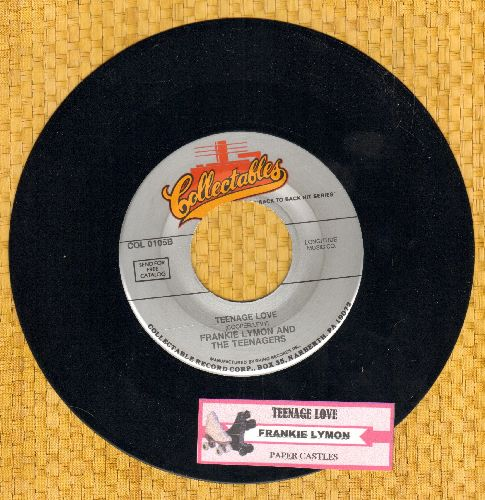 Lymon, Frankie & The Teenagers - Paper Castles/Teenage Love (re-issue with juke box label) - NM9/ - 45 rpm Records